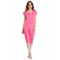 2 Pcs Nightwear Set In Pink