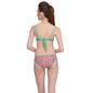 2 Pc Polyamide Swimsuit of Balconette Bra & V-Shaped Bikini In Light Green