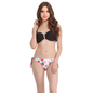 2 Pc Polyamide Swimsuit of Padded Bra & Printed Brief In White