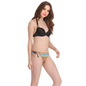 2 Pc Polyamide Swimsuit of Padded Bra & Printed Brief In Black