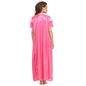 3 Pcs Satin Nightwear In Hot Pink