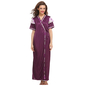 3 Pcs Satin Nightwear In Purple