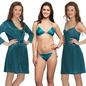 4 Pc Nightwear Set In Turquoise