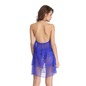 Sheer Babydoll with Matching Thong - Blue