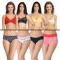 8 Pc Bra & Panty Set In Multicolor