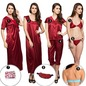 9 Pc Nightwear in Maroon