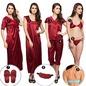 9 Pc Nightwear in Maroon
