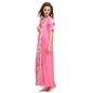 9 Pc Satin Nightwear Set - Hot Pink