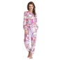 Abstract Print Full Length Top & Pyjama Set - White