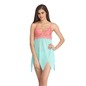 Lacy Cup Zig Zag Hem BabyDoll With Matching Thong - Green