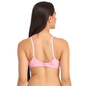 Baby Pink Cotton Non-Padded Non-Wired Bra With U Back
