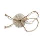 Beige Detachable String Straps With Round Net & Rhinestone Heart