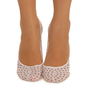 Belly Socks With Polka Dot Print - White