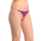Grape Wine Thong With Lacy Trims & Contrast Front