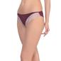 Dark Purple Bikini With Contrast Lace Trims At Legs