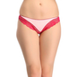 Light Pink Thong With Lacy Trims & Contrast Front