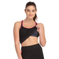 Black Active Wear Top With Inbuilt Bra