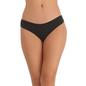 Black Cotton Spandex Bikini With Multi-coloured Printed Back Lace