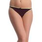 Black Cotton Spandex Bikini With Light Green Highlights