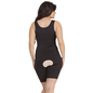 Body Suit In Black With Thigh Compressor