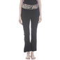 Cotton Flared Bottom Yoga Pants With Black Printed Waist Band