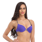 Blue Front Open Push Up Bra With Detachable Straps & Racer Back