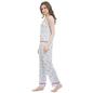 Blue Printed Camisole & Pyjama