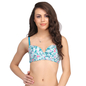 Push-Up Balconette Bra In Green With Detachable Straps