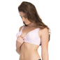 Cotton Padded Wirefree Demi Cup Nursing Bra - Pink