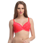 Padded Lace Bra In Red With Detachable Straps