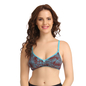 Cotton Non-Padded Wirefree Full Cup Bra - Blue