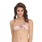 Printed Lightly Padded Wirefree Demi Cup T-Shirt Bra - Peach