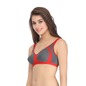 Cotton Non-Padded Non-Wired Full Cup Bra - Red