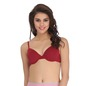 Cotton Padded Underwired Demi Cup T-Shirt Bra - Maroon