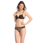 Polyamide & Powerner Bra And Panty Set In Black