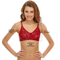 Chic Non-padded Wirefree Bra In Maroon