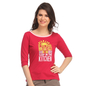 Comfy Cotton T-Shirt In Hot Pink