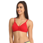 Coral Cotton Non-Padded Non-Wired Bra With U Back