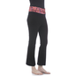 Cotton Flared Bottom Yoga Pants With Coral Printed Waist Band