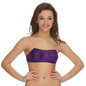 Cotton Balconette Tube Bra In Purple With Detachable Straps