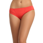 Cotton Bikini With Mid Waist Coverage - Red