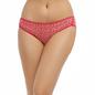 Cotton Mid Waisted Bikini - Red