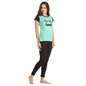 Cotton Blue Graphic T-Shirt With Fitted Leggings