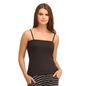 Cotton Camisole With Detachable Straps - Black