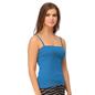 Cotton Camisole With Detachable Straps - Blue