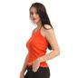 Cotton Camisole With Halter Neck - Orange