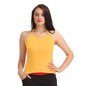 Cotton Camisole With Halter Neck - Yellow
