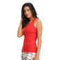 Cotton Camisole With Racer Back - Red