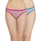 Set of 2 Multi-coloured Cotton Mid Waist Bikinis