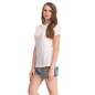 Cotton Crepe T-shirt & Printed Shorts In White & Blue